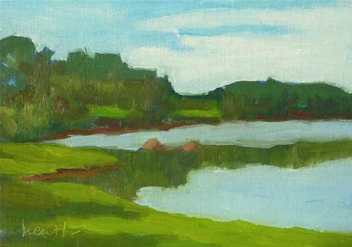 """""""Tidal Cove"""" original fine art by Bobbi Heath"""
