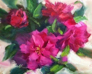 """C is for Camellia"" original fine art by Pat Fiorello"