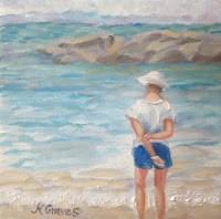 """A Walk In The Water Sorrento Beach"" original fine art by J H Graves"