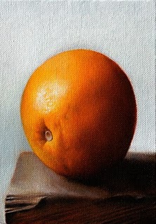 """Orange"" original fine art by Jonathan Aller"