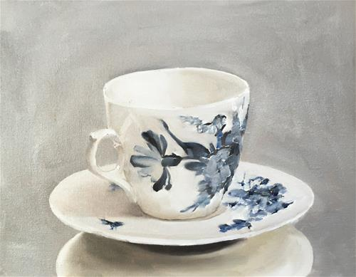"""Tea Cup"" original fine art by James Coates"