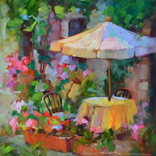 """""""Soft Places for the Heart….and Paris and Paris"""" original fine art by Dreama Tolle Perry"""