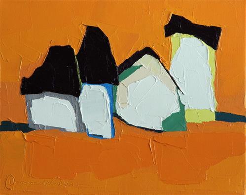 """Tangerine Dreams"" original fine art by Donna Walker"