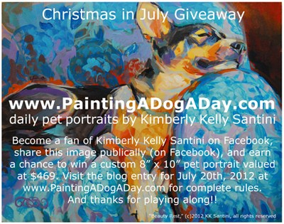 """Christmas in July"" original fine art by Kimberly Santini"