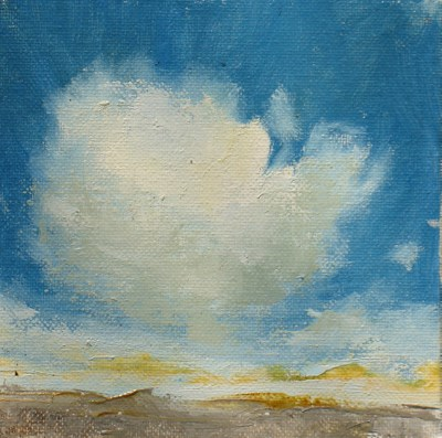 """CLOUD I"" original fine art by Susan Hammer"