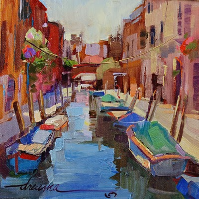 """Venice, a Love Shared SOLD"" original fine art by Dreama Tolle Perry"