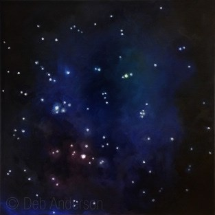 """Oil Painting: Summer Triangle of Stars"" original fine art by Deb Anderson"