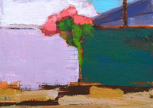"""Bougainvillea Near Grandma's Tofu"" original fine art by Kevin Inman"