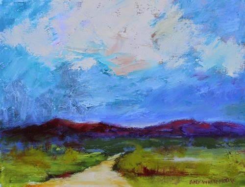 """Land of Enchantment, Contemporary Landscape Paintings by Arizona Artist Amy Whitehouse"" original fine art by Amy Whitehouse"