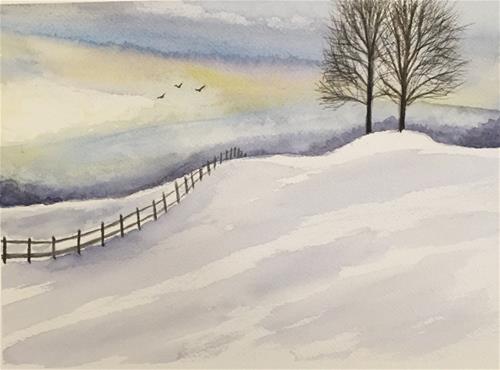 """""""Winter One"""" original fine art by Melissa Gresham"""