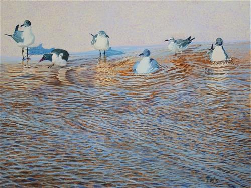 """""""Bath Time"""" original fine art by Alan Mintz"""