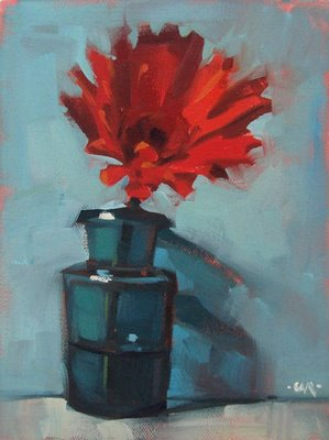 """Big Red --- SOLD"" original fine art by Carol Marine"