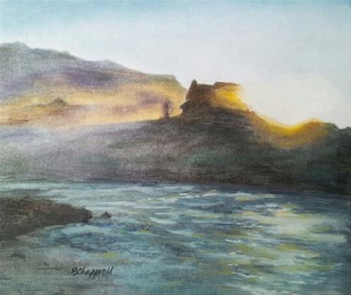 """Sunrise on Slate River"" original fine art by Becky Chappell"