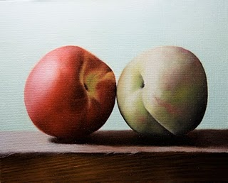 """Peaches 2"" original fine art by Jonathan Aller"