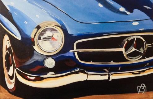 """Mercedes II"" original fine art by Andre Beaulieu"