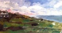 """Morning on Baldhead Island"" original fine art by Clair Hartmann"