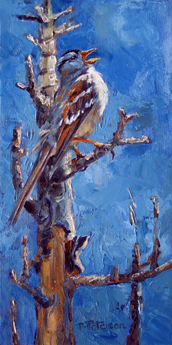 """Singing the Blues"" original fine art by Robin Peterson"
