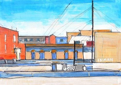 """""""Gaslamp, San Diego"""" original fine art by Kevin Inman"""