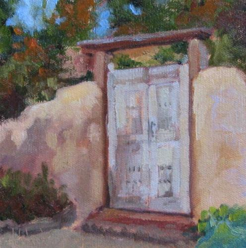 """Faded Door"" original fine art by Pam Holnback"