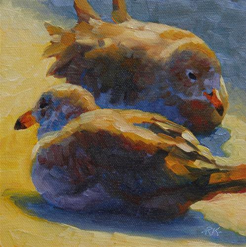 """Sunbathers"" original fine art by Rita Kirkman"