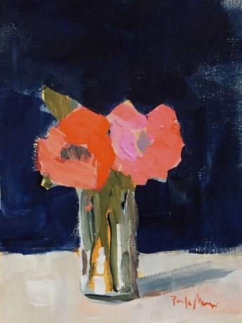 """""""coral roses"""" original fine art by Pamela Munger"""
