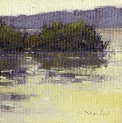 """Watery Reeds"" original fine art by Laurel Daniel"