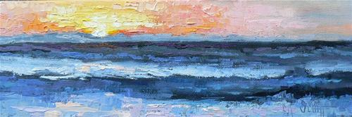 """Pacific Sundown"" original fine art by Carol Schiff"
