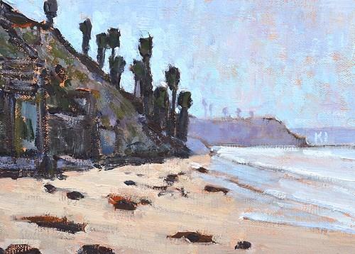 """Grandview Beach, Encinitas"" original fine art by Kevin Inman"