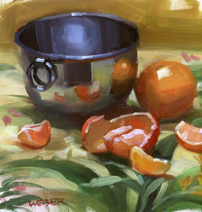 """Tropical tangerines"" original fine art by Kathy Weber"