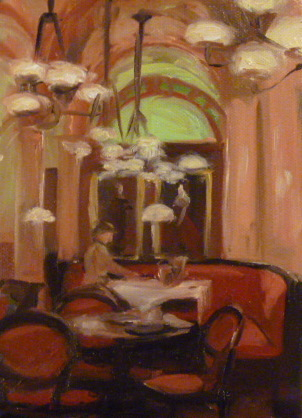 """Cafe Central Study"" original fine art by Jonelle Summerfield"