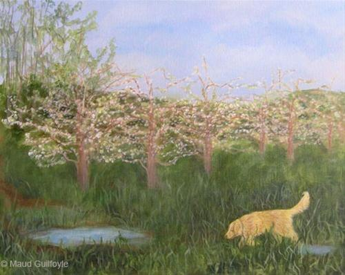 """Dolly in Spring"" original fine art by Maud Guilfoyle"