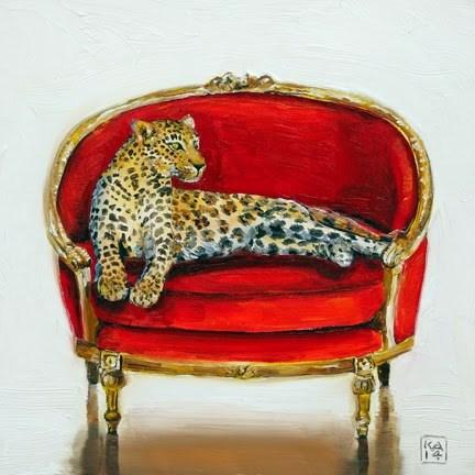 """spot"" original fine art by Kimberly Applegate"