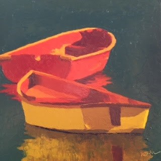 """Dinghies"" original fine art by Bobbi Heath"