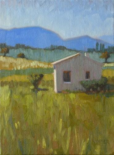 """Cottage in Provence 6x8 oil"" original fine art by Claudia Hammer"