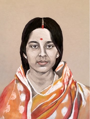 """Mom"" original fine art by Piya Samant"
