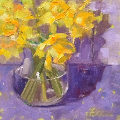 """Spring at Last!"" original fine art by Ann Feldman"