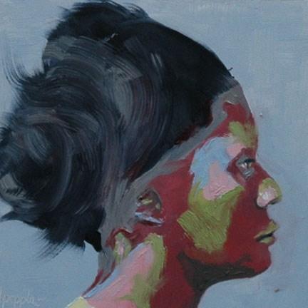 """""""FACE No. 92"""" original fine art by Linda Popple"""