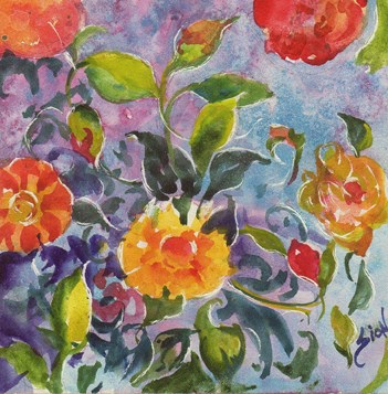 """Garden Party"" original fine art by Sue Dion"