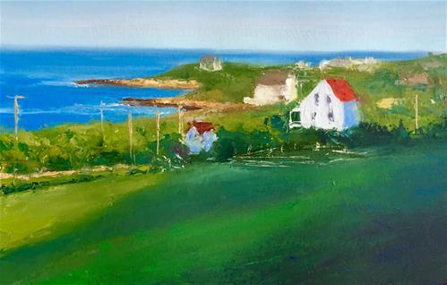 """Spring Street"" original fine art by Whitney Knapp Bowditch"