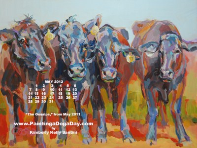 """May Desktop Calendar"" original fine art by Kimberly Santini"