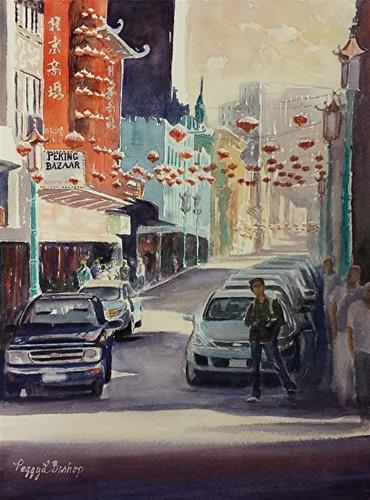 """""""Chinatown #1"""" original fine art by Peggy Bishop"""