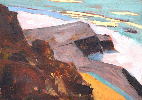 """Cabrillo Plein Air"" original fine art by Kevin Inman"