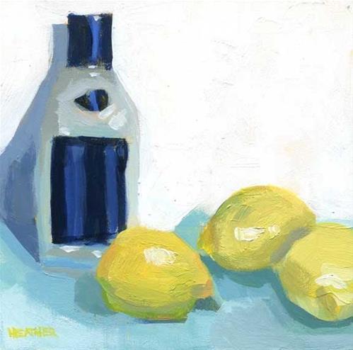 """Limoncello"" original fine art by Heather Bennett"