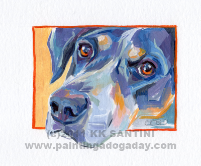 """Buster, A Painted Sketch"" original fine art by Kimberly Santini"