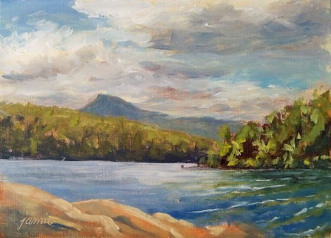 """Clouds at South Lake — Hudson River School site"" original fine art by Jamie Williams Grossman"