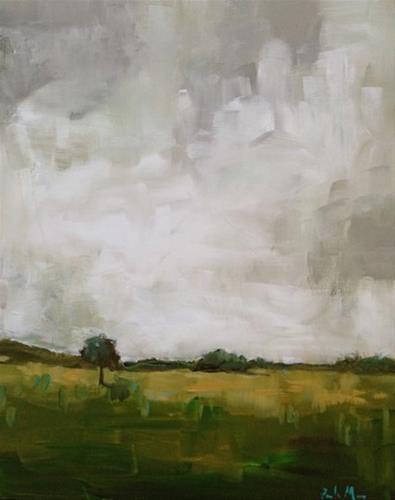 """""""August Green"""" original fine art by Pamela Munger"""