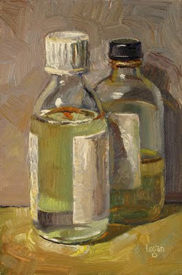 """Varnish and Linseed Oil"" original fine art by Raymond Logan"