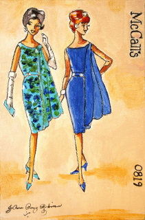 """Vintage Gals #2"" original fine art by JoAnne Perez Robinson"