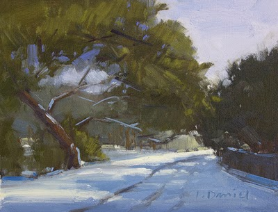 """Snow Day"" original fine art by Laurel Daniel"