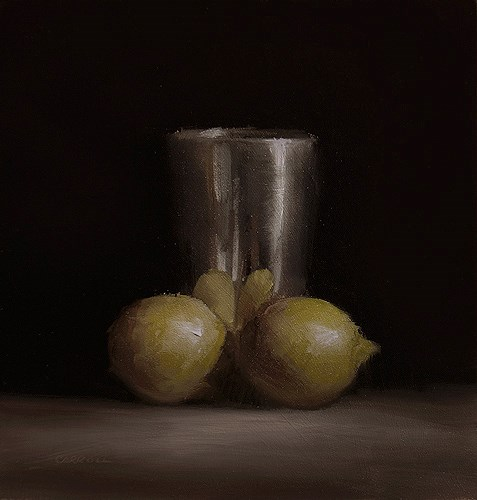 """Cup with Lemons"" original fine art by Neil Carroll"